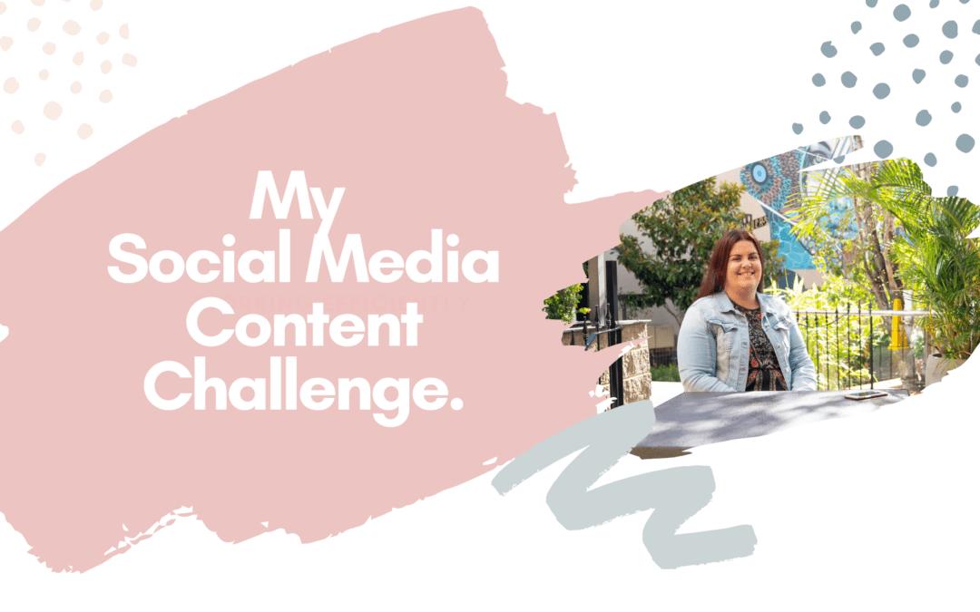 My Social Media Content Challenge.